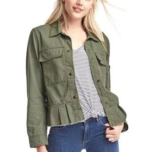 Gap peplum utility jacket